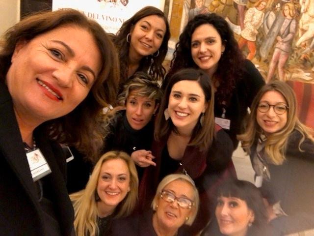 Le Donne del Vino della Basilicata con la Presidente Donatella Cinelli Colombini e Serena Aversano
